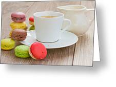 Coffee  And Macaroons Greeting Card