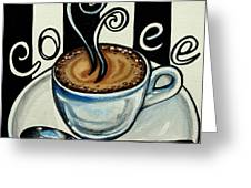 Coffee At The Cafe Greeting Card