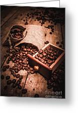 Coffee Bean Art Greeting Card