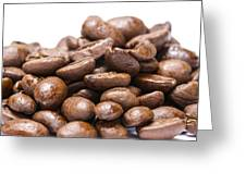 Coffee Beans Closeup Greeting Card