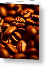 Coffee  Beans- Gold Greeting Card