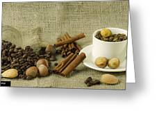 coffee beans Still Life Greeting Card