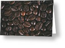 Coffee Beans Texture Greeting Card