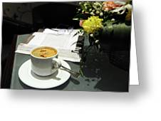 Coffee Break Greeting Card by Graham Taylor