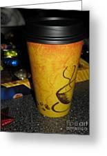 Coffee Cup Series. Yellow And Orange. Greeting Card