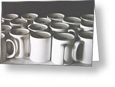 Coffee Cups- By Linda Woods Greeting Card