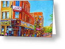 Coffee Depot Cafe And Terrace Greeting Card