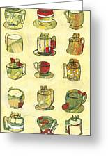 Coffee For Fifteen Greeting Card