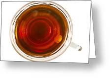 Coffee In Glass Cup From Directly Above Greeting Card