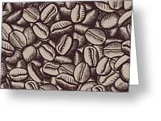 Coffee In Grain Greeting Card