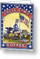 Coffee Label, C1863 Greeting Card by Granger