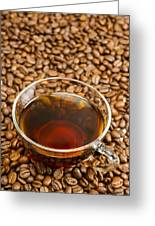 Coffee On Roasted Beans Greeting Card