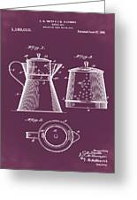 Coffee Pot Patent 1916 Red Greeting Card