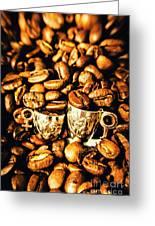 Coffee Shop Companions  Greeting Card