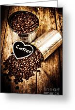 Coffee Shop Love Greeting Card