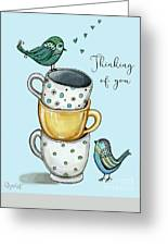 Coffee With The Birds Greeting Card