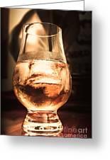 Cognac Glass On Bar Counter Greeting Card