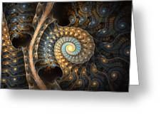 Coiled Spirals Greeting Card