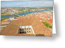 Coimbra Aerial View Greeting Card