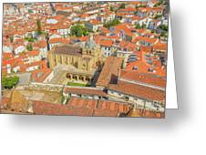Coimbra Cathedral Aerial Greeting Card