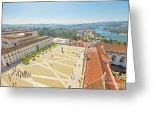 Coimbra University Aerial Greeting Card
