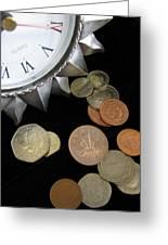 Coins Greeting Card by Lindie Racz