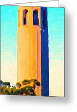 Coit Tower San Francisco Greeting Card by Wingsdomain Art and Photography
