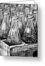 Coke Bottles-bw Greeting Card