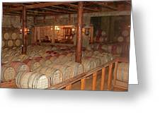 Colchagua Valley Wine Barrels Greeting Card