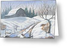 Cold Country Greeting Card