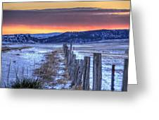 Cold Country Sunrise Greeting Card
