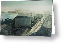 Cold Dawn On Gulf Boulevard Greeting Card by Elizabeth Carr