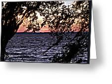 Cold Florida Sunset Greeting Card