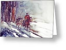 Cold Hunt Greeting Card