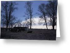 Cold Iowa Evening Greeting Card