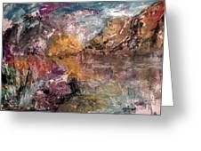 Mountain's, Cold Morning Light Greeting Card