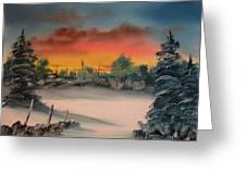 Cold Morning Sunrise Greeting Card