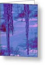 Cold Night Falling Greeting Card