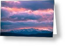 Cold November Rain Greeting Card