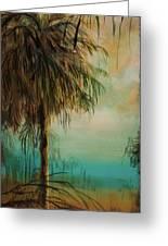 Cold Palm Marsh Greeting Card