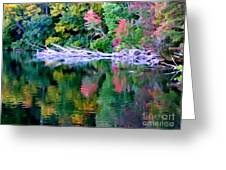 Cold Spring Harbor Reflections Greeting Card