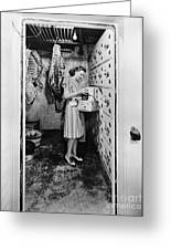 Cold Storage Room, C1940 Greeting Card
