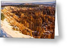 Cold Sunrise At Bryce Greeting Card