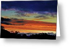 Cold Sunrise Greeting Card