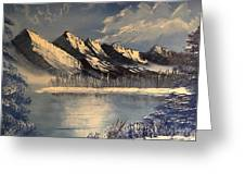 Cold Winter Lake Greeting Card
