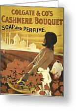 Colgate Cashmere Bouquet Advertising Poster Greeting Card