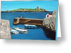 Coliemore Harbour, Dalkey Greeting Card