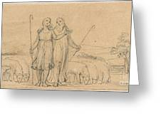 Colinet And Thenot Greeting Card