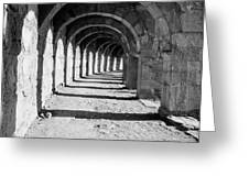 Coliseum Corridor Greeting Card
