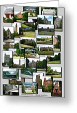 Collage Cornell University Ithaca New York Vertical 02 Greeting Card
